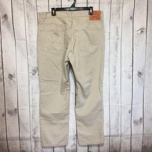 Levis 541 Athletic Fit Khaki Jeans Pants 36x30